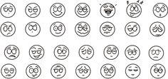 Desenhinhos para Carimbos: Carinhas e expressões faciais