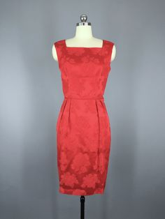 Vintage 1950s Red Cocktail Dress