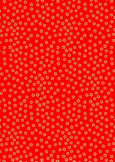 Gold Flowers on Red Japanese Yuzen Chiyogami Washi by mosaicmouse, $2.00