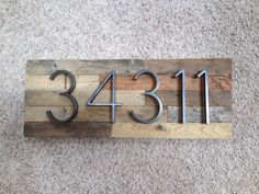Reclaimed wood Address Plaque - custom, personalized, house numbers, address sign, cabin, cottage, housewarming gift, address plate by MadeWithBeerInHand on Etsy https://www.etsy.com/listing/523259191/reclaimed-wood-address-plaque-custom