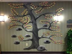 Donor tree sculpture created for Sparrow Hospice, Lansing MI.