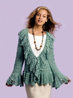 Soft Sage Circle Jacket | Yarn | Free Knitting Patterns | Crochet Patterns | Yarnspirations