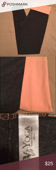 Victoria's Secret Yoga pants Gray & coral yoga pants from Victoria's Secret; super comfortable and in great condition; size Small Victoria's Secret Pants Leggings