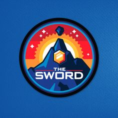 Mission patch-style designs for Texas-based metal band The Sword. Badge Design, Icon Design, Logo Design, Graphic Design, Vector Logos, Simple Geometric Pattern, Plane Design, James White, Cartoon Logo