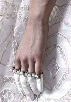 Detail at Alexander McQueen Fall 2013 #PurelyInspiration