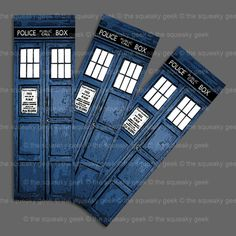 BBC Doctor Who TARDIS bookmark by TheSqueakyGeek on Etsy, £0.75