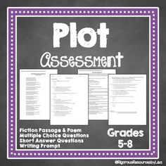 Do your students understand plot structure at a higher level? Find out with this rigorous Plot Structure Test!This Plot Structure resource is for grades 5-8 and contains one plot structure test using higher level questioning and two genres of text. All questions are rigorous and text dependent.