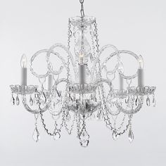 Gallery 385/5 5-Light Crystal Chandelier  $154 free ship http://www.atgstores.com/chandeliers/gallery-3855-5-light-crystal-chandelier_g1469839.html?rmk=1833&af=2265&linkloc=reCanonical