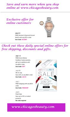 Check out these Avon Coupon Codes for 7/1-7/9. Codes cannot be combined and expire at midnight on the day listed. To redeem, go to my Avon store. If you want more coupon codes, fill out the contact…