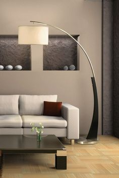 Plimpton Arc Floor Lamp on HauteLook Arc Floor Lamps, Modern Floor Lamps, Arc Lamp, Lounge Lighting, Home Lighting, Lighting Design, Style At Home, Interior Design Inspiration, Home Interior Design