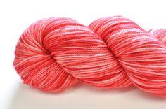 Strawberry Swirl -- Aurora Fingering. $23.00, via Etsy.