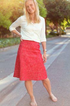 Sew Well's silk-linen blend skirt. #MoodFabrics