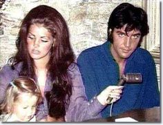 Great candid shot of Elvis, Priscilla, & Lisa Presley