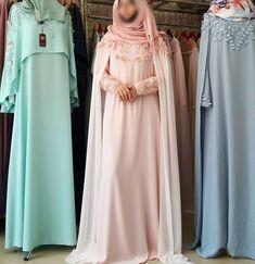 Modest Fashion Hijab, Abaya Fashion, Muslim Fashion, Modest Outfits, Fashion Dresses, Queen Wedding Dress, New Wedding Dresses, Iranian Women Fashion, Abaya Designs