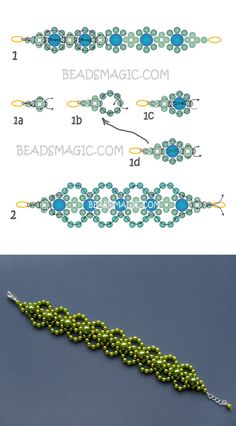 Free pattern for bracelet Lime | Beads Magic