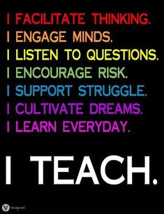 The reasons behind why people love teaching. Teaching is a passion.