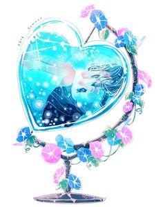 A heart globe in steel...