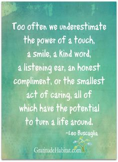 ...the potential to turn a life around. Visit us at: www.GratitudeHabitat.com