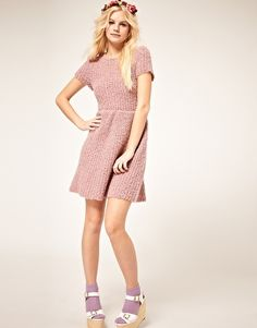 Dress with Textured Knit - Asos