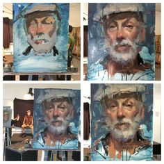 Jacob Dhein The process for the painting Lloyd. #process #portrait #painting #allaprima