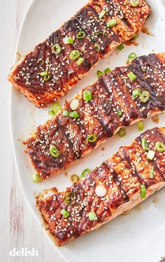 BBQ Grilled Salmon Is The Perfect Summer DinnerDelish The Effective Pictures We Offer You About salm Salmon Recipes, Fish Recipes, Seafood Recipes, Asian Recipes, Grilling Recipes, Gourmet Recipes, Cooking Recipes, Grilling Tips, Gastronomia