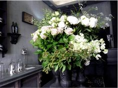 Odorantes, Paris . http://www.gardenista.com/posts/odorantes-a-chic-parisian-florist-where-the-flowers-are-arranged-by-scent