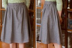 You won't believe how easy it is to DIY this chic gathered skirt.