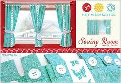 Tab-Top Curtains with tutorial. This is exactly what I needed to find so I can make curtains for my little girls kitchen set.