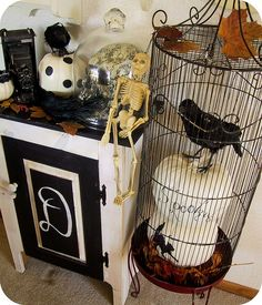 Halloween Birdcage by bewitchedmagic (laurie duncan)
