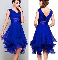 Short Blue V-Neck Prom Dresses,Short Bridesmaid Dresses 37263 Blue Bridesmaid Dresses Short, V Neck Prom Dresses, Formal Evening Dresses, Ball Dresses, Homecoming Dresses, Short Dresses, Photos Of Dresses, Affordable Prom Dresses, Custom Dresses