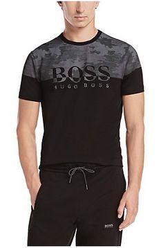 T-shirt: «Tee 6» en coton mélangé, Noir