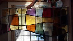 multi colour stained glass window payne