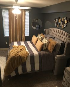💓 Black White And Gold Bedroom best 25 black gold bedroom ideas on 1 Dream Rooms, Dream Bedroom, Home Decor Bedroom, Living Room Decor, Bedroom Ideas, Black Bedroom Decor, Bedroom Romantic, Bedroom Inspo, Bedroom Wall