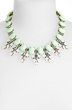Mint sparkle necklace http://rstyle.me/n/u4r4an2bn