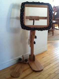 My new Searsport rug hooking frame package. Came with bendable floor stand, sit on, 14x17 head and  gripper arm guard. Head swivels 360 degrees. Gorgeous