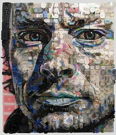 Beautiful portraits made out of... junk | by Zac Freeman | abduzeedo.com