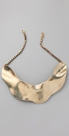 Molded Collarbone Necklace $395 via boutiika.com