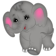 Baby Elephant's Cute - Elephant Cartoon Clip Art