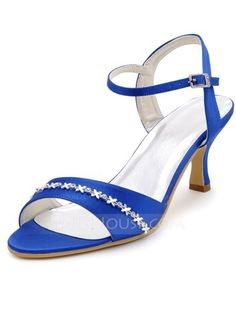 Wedding Shoes - $42.99 - Women's Satin Stiletto Heel Pumps Sandals With Buckle Rhinestone (047039725) http://jjshouse.com/Women-S-Satin-Stiletto-Heel-Pumps-Sandals-With-Buckle-Rhinestone-047039725-g39725/?utm_source=crtrem&utm_campaign=crtrem_AU_26935