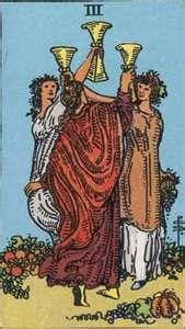 Tarot Card Three of Cups