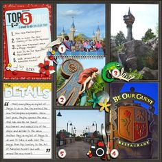 Disney Project Life page created by susan0326 featuring Project Mouse by Sahlin Studio & Britt-ish Designs