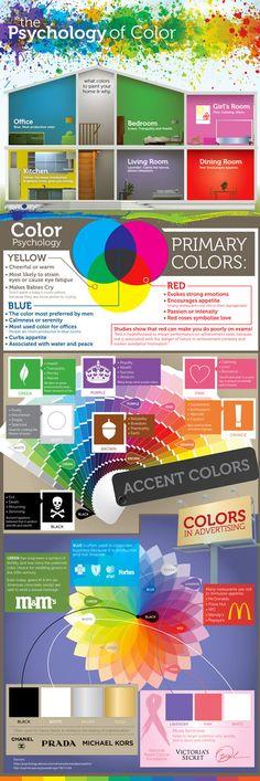 Quelle est votre couleur ? #Infographie : la psychologie des #couleurs et leur influence.