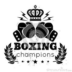 Illustration about Vintage logo for boxing with gloves and crown. Illustration of aggression, fight, crown - 55943801 Flag Vector, Banner Vector, Free Vector Images, Vector Free, Vector Stock, Tree Silhouette Tattoo, Tiger Vector, Baseball Vector, Gym Logo