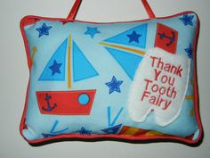 .....Tooth Fairy Pocket Pillow For Boys on Etsy.com .....