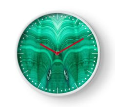 Malachite Clock by lightningseeds® for crystalapertures.rocks.