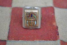 Vintage Handmade Mexican Souvenir Biker Ring