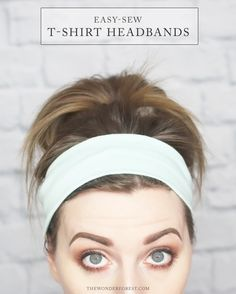 Turn an old t-shirt into a handy and cute DIY headband with this beginner sewing project. Teens and tweens will love this idea on how to sew a t-shirt headband! Headband Tutorial, Headband Pattern, Diy Headband, Diy Tutorial, Scarf Tutorial, Flower Tutorial, Sewing Headbands, Stretchy Headbands, Handmade Headbands