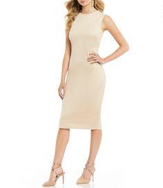 9d759e5c1abd Antonio Melani Brooklyn Faux Suede Sheath Dress Antonio Melani, Dresses For  Work, High Neck