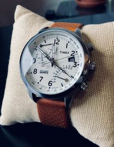 : Watches Timex Men's Iq Brown Leather Strap Analog Quartz Watch with Brown Dial 753048482665 Men's Watches, Timex Watches, Armani Watches, Cool Watches, Fashion Watches, Unique Watches, Elegant Watches, Stylish Watches, Casual Watches