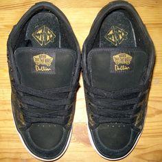 67a550484de Dustin Dollin exclusive edition vans. Size 6 in women. Leather upper  balance. Black